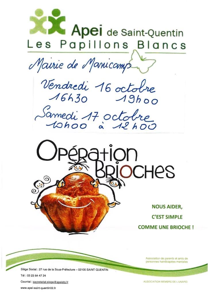 CCAS Opération Brioches - Apei - Commune de Manicamp